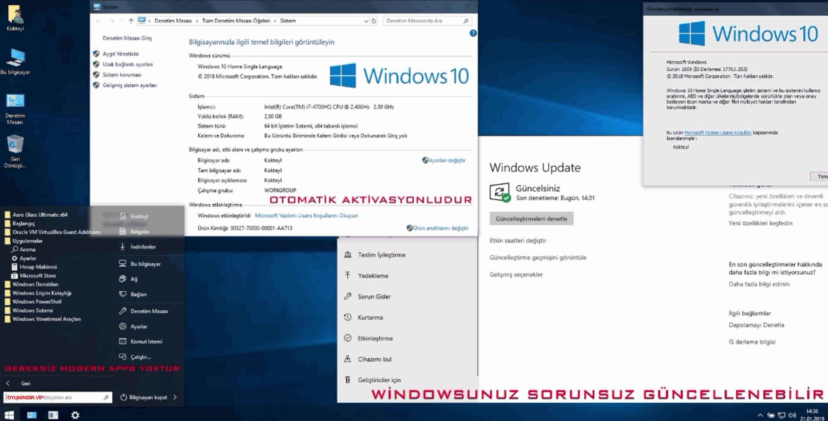 Windows 10 LTSC 2019 Kokteyl Edition İndir Türkçe Hızlı Son Sürüm